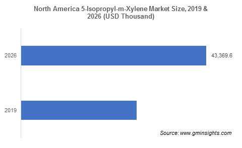 5-Isopropyl-m-Xylene Market by Region