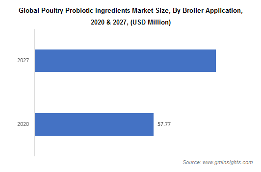 Global Poultry Probiotic Ingredients Market Size, By Broiler Application
