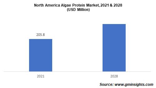 North America algae protein market