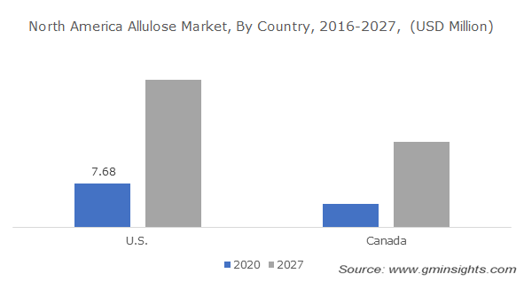 North America Allulose Market, By Country